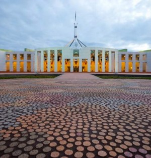 visiting the Australian parliament house